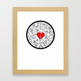 Keith Haring-Inspired Project Framed Art Print