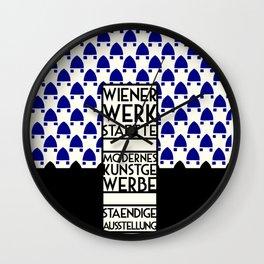 Wiener Werkstaette retro vintage artwork expo Wall Clock