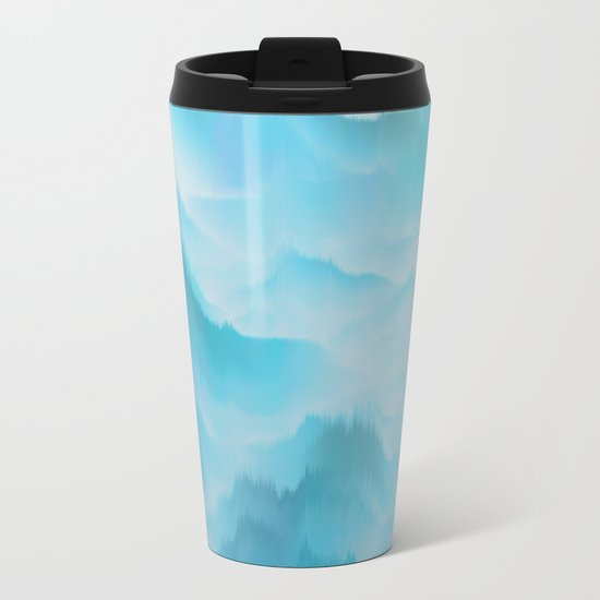 Clouds and mountains. Abstract. Metal Travel Mug