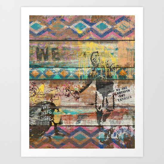 Art isn't a Crime (Molotov Cocktail) Art Print