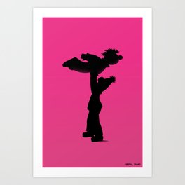 Roomie Dancing Art Print