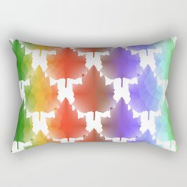 Rainbow Maple Leaves Rectangular Pillow