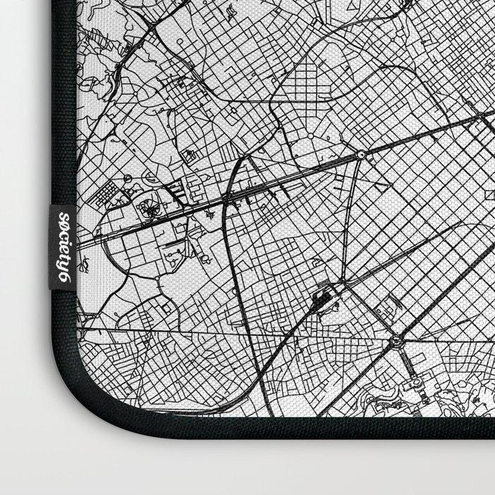 Barcelona White Map Laptop Sleeve