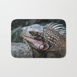 Portrait of an Iguana Bath Mat