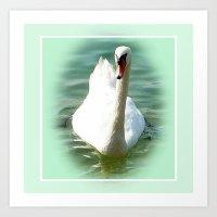 swan Art Prints featuring Swan by Art-Motiva