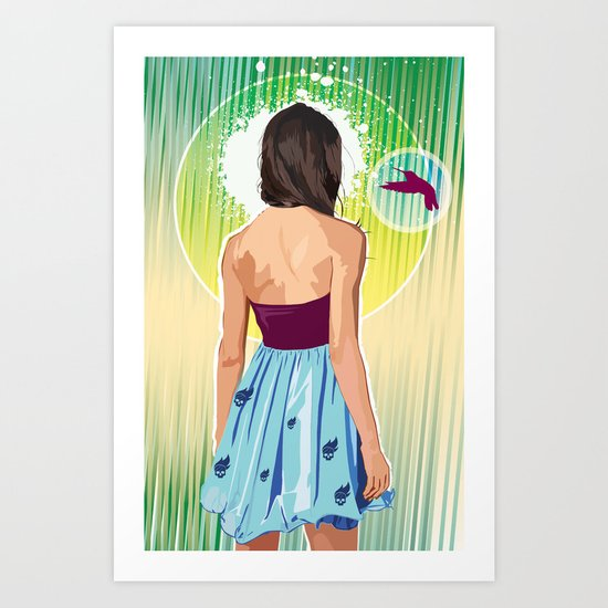 Humming Bird Art Print
