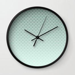 Geometric #turquoise #pattern #monochrome Wall Clock