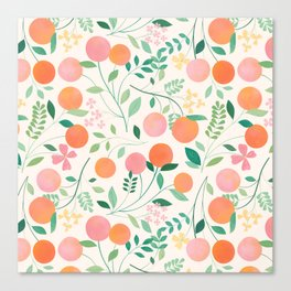 Vanilla Peaches Canvas Print