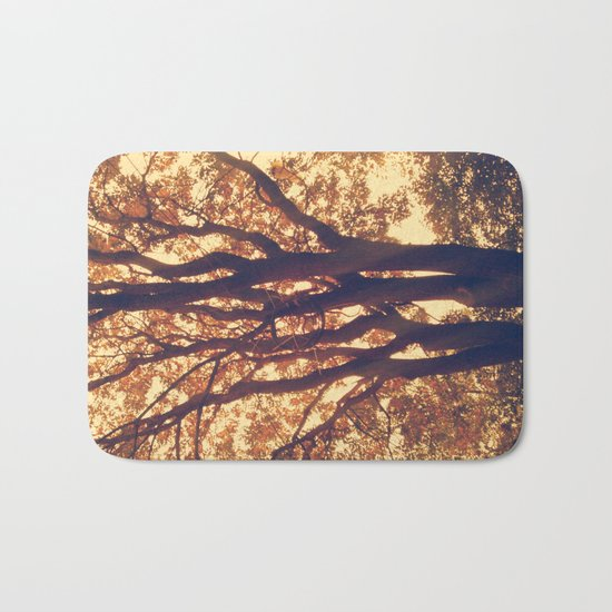old forest at twilight Bath Mat