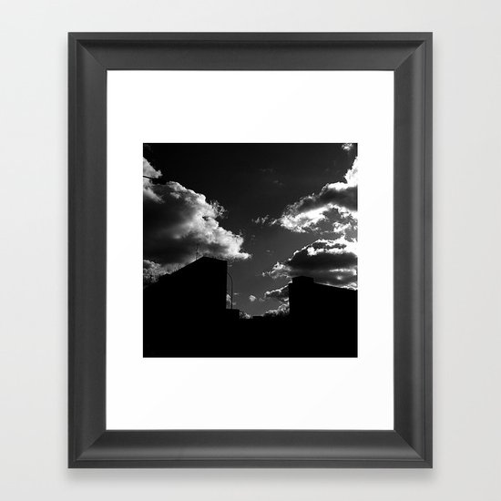 The Clouds above-Monochrome version Framed Art Print