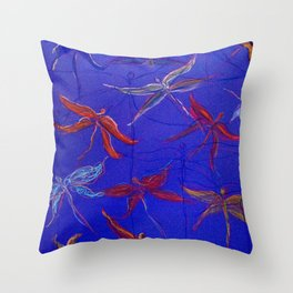 Dragonfly Afternoon Throw Pillow