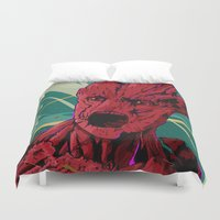 guardians of the galaxy Duvet Covers featuring Groot Guardians of the galaxy by W.B.