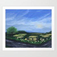 Country Road Landscape  Art Print