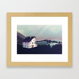 Castle in the Mountains Framed Art Print