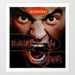 WARNING! Art Print