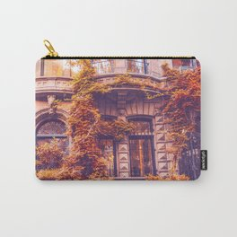 Dressed Up in Autumn - New York City Brownstones Carry-All Pouch