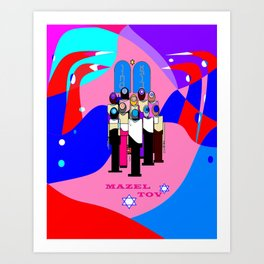 A Bat Mitzvah and Red Sea Art Print