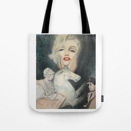 Marilyn - oh diese Männer! - Ölgemälde Tote Bag