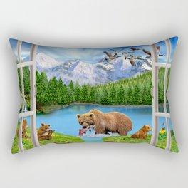 Window to the Great Bear Wilderness Rectangular Pillow