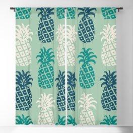 Retro Mid Century Modern Pineapple Pattern 88 Blackout Curtain
