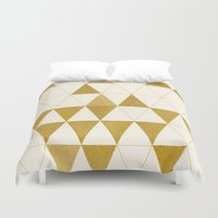 triforce Duvet Covers featuring My Favorite Shape by Krissy Diggs