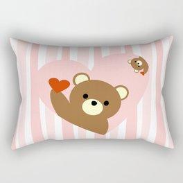 Valentine bear pink Rectangular Pillow