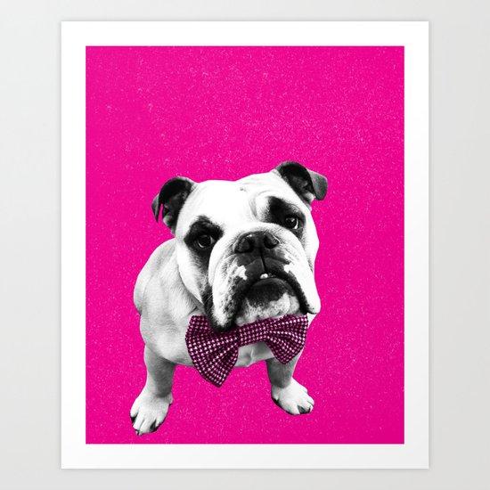Pink Bowser Art Print