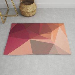 Cos 1 — art red orange, valentine, motherday, deco scandinavian, low pol, geometric art, summer Rug