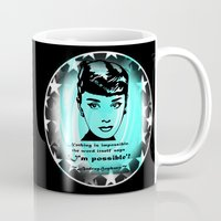 audrey Mugs featuring Audrey by GrOoVy Photo Art