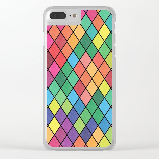 Lovely geometric Pattern X Clear iPhone Case
