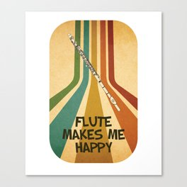 Transverse Flute Player Flutist Marching Band Gift Canvas Print