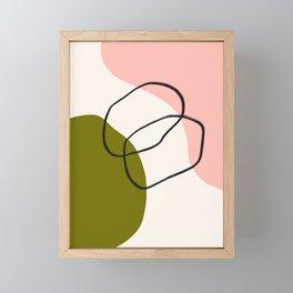 Minimal Abstract 2 Framed Mini Art Print