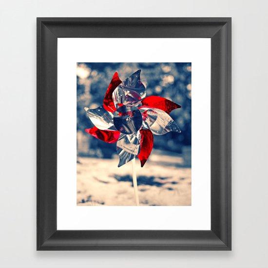 Winter whirligig Framed Art Print