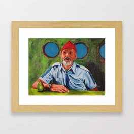 Bill Murray as Steve Zissou Framed Art Print