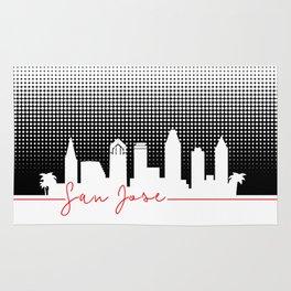 San Jose raster skyline Rug