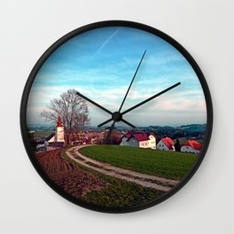 Hiking into springtime scenery | landscape photography Wall Clock