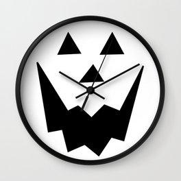 Jack O'Lantern Face Wall Clock