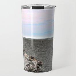 Black Sand Color Sky Travel Mug