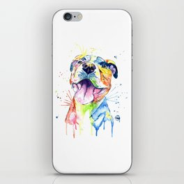 Pit Bull, Pitbull Watercolor Painting - The Softer Side iPhone Skin