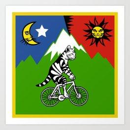 Bicycle Catnip Art Print