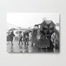 Rainy Day in Lower Manhattan Metal Print