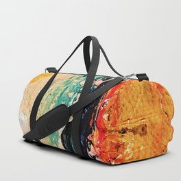 Abstract drawing painted on the wall Duffle Bag