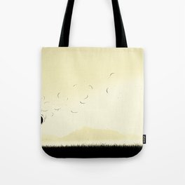 The violence of the wind Tote Bag