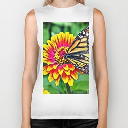Monarch Butterfly Macro Biker Tank