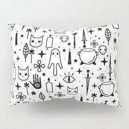 Spirit Symbols White Pillow Sham