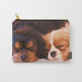 Sleeping Buddies Cavalier King Charles Spaniels Carry-All Pouch