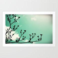 Glowing Buds Art Print