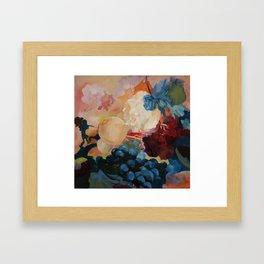 flower, fruid Framed Art Print