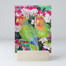 Twin Love Birds Mini Art Print