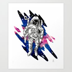 Out of place in Outerspace Art Print